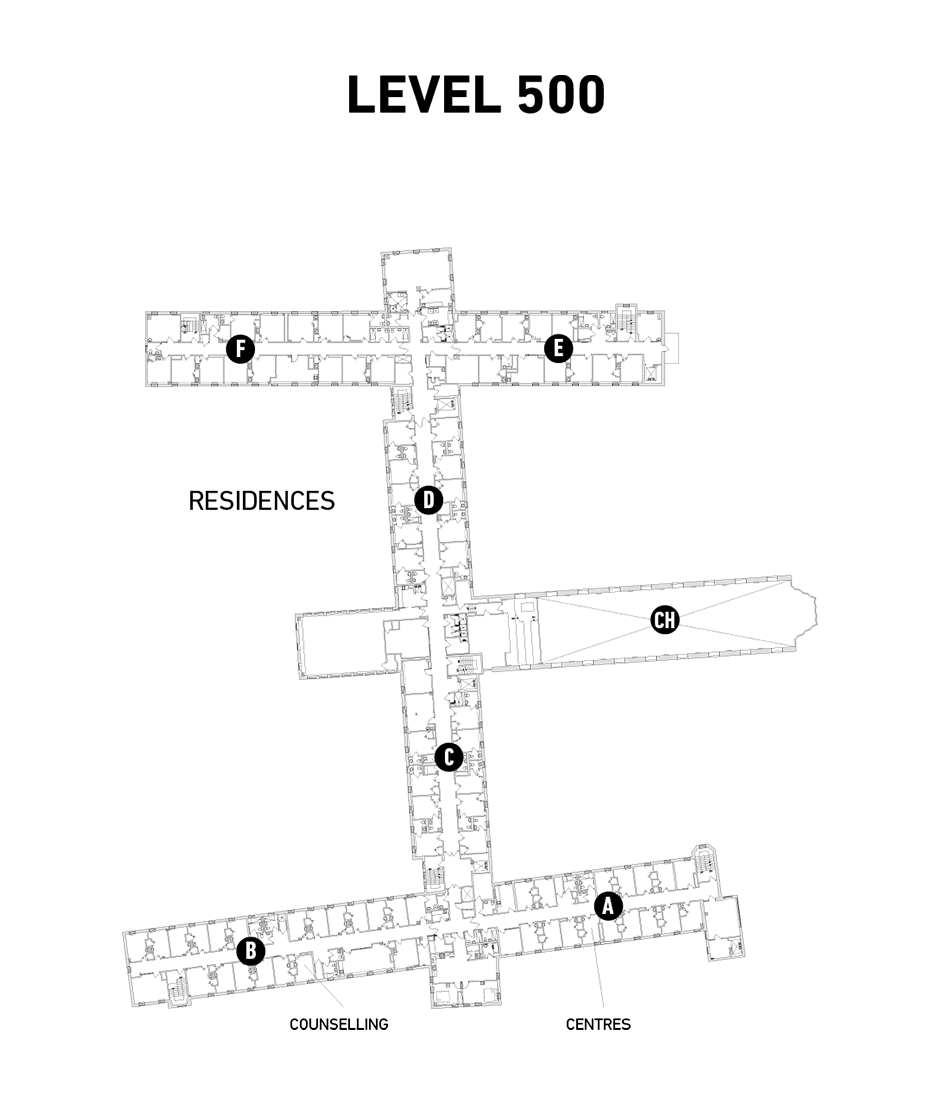 Map of Tyndale Bayview Campus Level 500