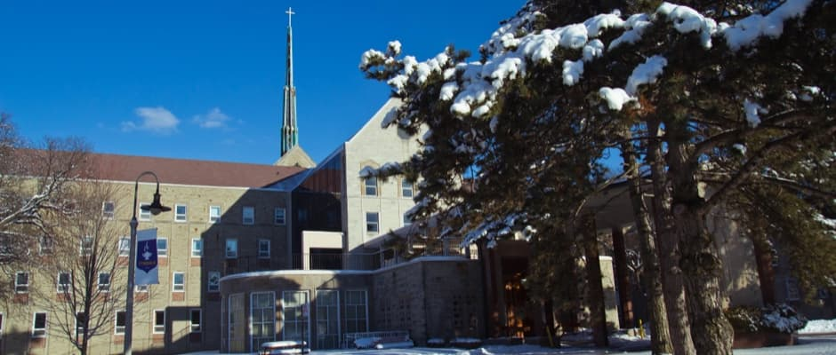 Front of Tyndale Campus in the winter