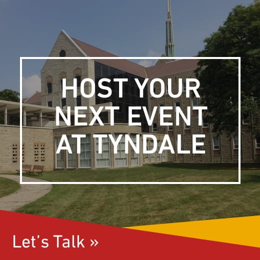 Host your next event at Tyndale, let's talk