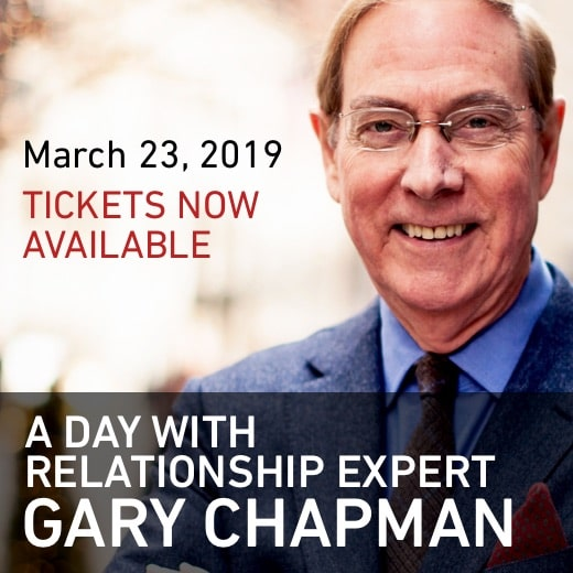 A Day With Relationship Expert Gary Chapman, March 23, 2019, tickets now available