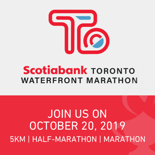 Scotiabank Toronto Waterfront Marathon — Join us on October 20, 2019 for either a 5km, half-marathon or full marathon