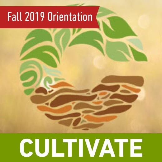 Event Banner, Cultivate Fall 2019 Oreientation