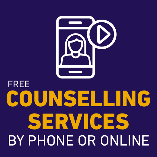 Free counselling services available by phone or online