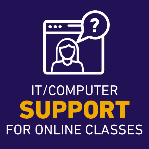 IT/Computer support for online classes