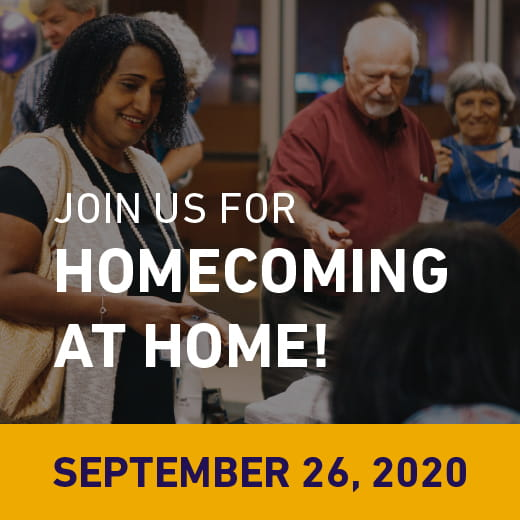 Join us for Homecoming at Home! September 26, 2020