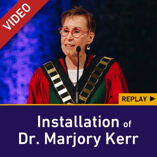 Installation of Dr. Marjory Kerr — replay video