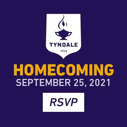 RSVP for Tyndale Homecoming on September 25, 2021