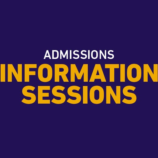 Admissions Information Sessions