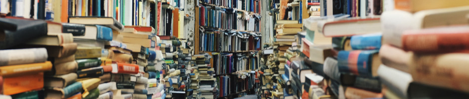 Library of Stacked Books