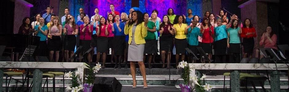 Tyndale Community Choir performing in the Tyndale Chapel