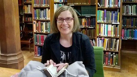Prof. Natasha Duquette in the Gladstone Library