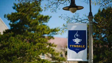 Tyndale sign on lamp post