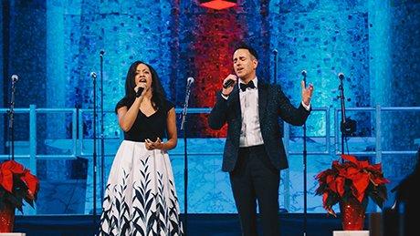Dr Melissa Davis and Mark Davis singing
