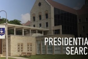 Presidential Search, front of the Tyndale Campus