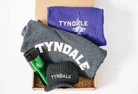Tyndale-branded products in a box
