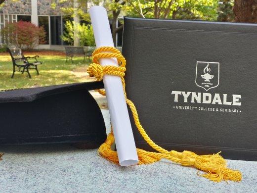 Graduation cap with degree