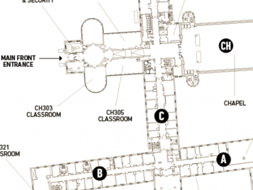 A map of Tyndale's Bayview Campus