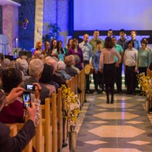 Tyndale choir at Easter in the Chapel