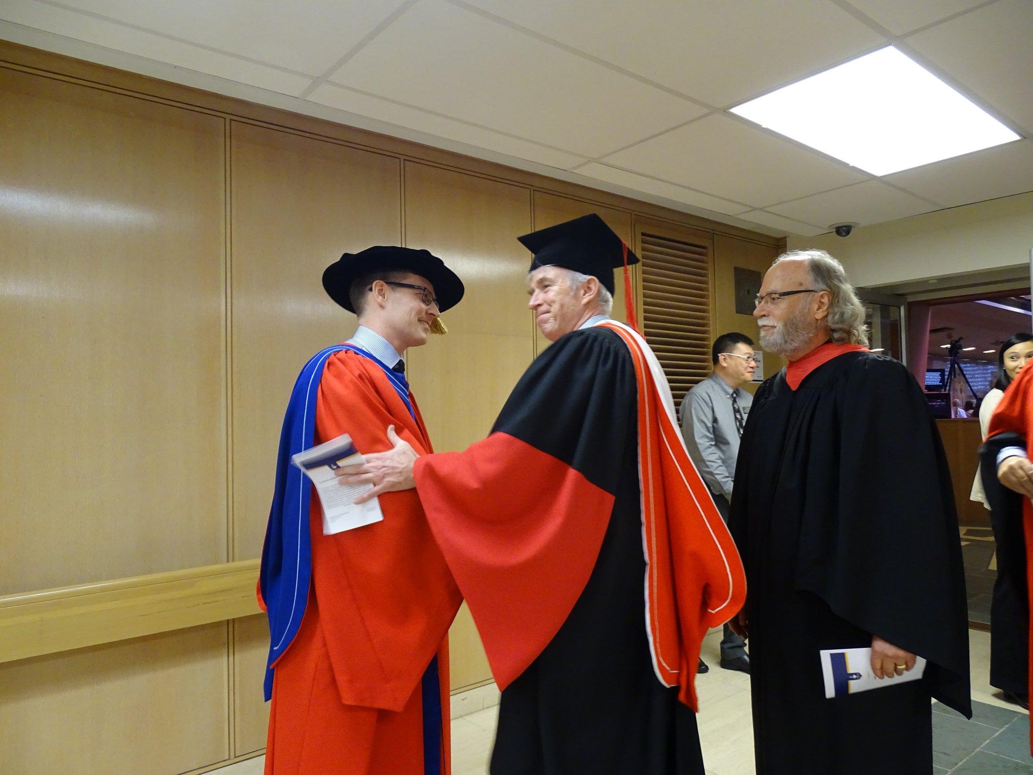 Faculty congratulates Dr. Pedlar