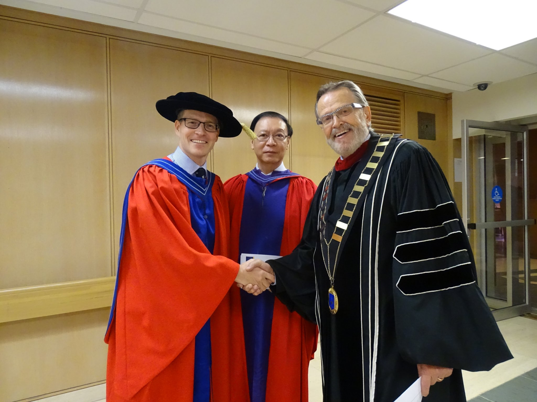 Dr. Pedlar with Dr. Nelson and Dr. Ngien
