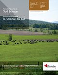 Canadian Journal of Soil Science cover