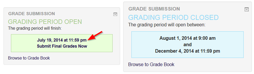 "class.tyndale.ca Grade Submission box with ""Submit Final Grades Now"" option highlighted"