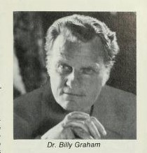 Black and white portrait shot of Dr. Billy Graham