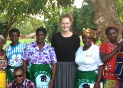Kaitlyn with Malawians